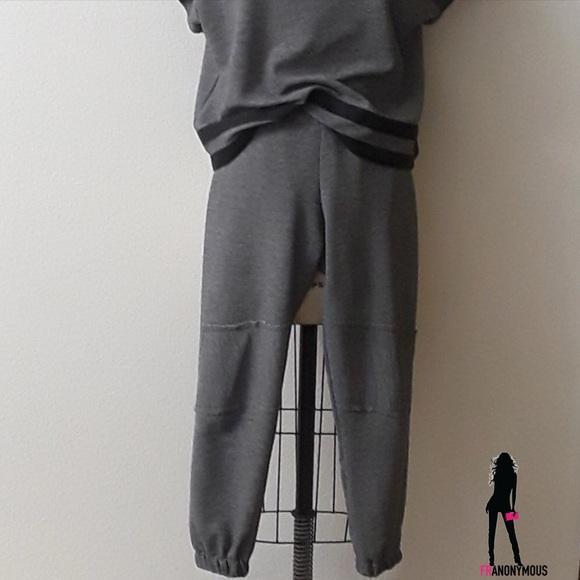 Atid Clothing Pants - Atid Clothing Gray Knit Sweatpants